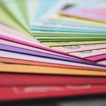 tarjetas color